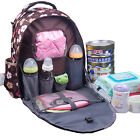 NEW fashion Multifunctional Mummy Bag Backpack Baby Diaper Nappy Bag /Large