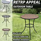 Vidaxl Mosaic Table Balcony Patio Garden Craft Coffee Outdoor Multi Colours