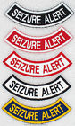 1 SEIZURE ALERT ROCKER PATCH service dog Danny & LuAnns Embroidery