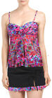 Profile Gottex Mardi Gras Fly Away Tankini Skirted 2Pc Set Swimsuit NWT $182