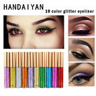 10 Colors Metallic Shiny Smoky Eyes Eyeshadow Waterproof Glitter Liquid Eyeliner