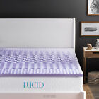 LUCID 2-inch 5 Zone Gel or Lavender Scented Memory Foam Mattress Topper