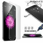 3-Pack New Premium Real Tempered Glass Film Screen Protector For iPhone 4 5 6 7