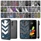 For LG Stylo 2 LS775/ Stylus 2 K520 Black Hard Clear Case TPU Bumper Cover + Pen