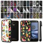 For Motorola Moto Z Force Droid Edition Hard Clear Case TPU Bumper Cover + Pen