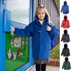 Girls Kids Childrens Wateproof Durable Strong Hooded Long Coat Jacket AGES 3-12