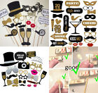 2018 New Year's Eve Party Supplies Card Masks Photo Booth Props Decorations US