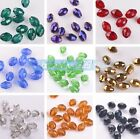 15pcs Oval Faceted 10x8mm Crystal Glass DIY Findings Loose Spacer Beads