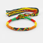 A Rasta Friendship Bracelet Wristband Cotton Silk Reggae Jamaica Surfer Boho