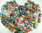 20mm Mix 10pcs Alloy Round Chunks Snap Button for DIY noosa series Charm