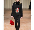 NEW Autumn/winter runway Occident fashion trophy embroidery bead lady sport tops