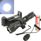2000LM Ultrafire 501B CREE LED 20mm Mount Tactical Flashlight Hunting Light