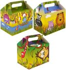 Boys or Girls Jungle Party Boxes Food Toy Loot Lunch Cake Cardboard Gift Wedd