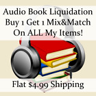 Used Audio Book Liquidation Sale ** Authors: K-K #846 ** Buy 1 Get 1 flat ship