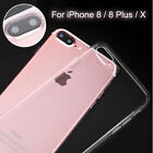 For Apple iPhone 8/Plus/X Case Slim Crystal Clear TPU Silicone Protective Cover