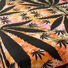 FairTrade multiColour ganga ganja weed leaf bedspread throw wallhanging backdrop