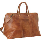 Le Donne Leather Distressed Leather Getaway Duffel Travel Duffel NEW