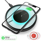 Qi Fast Wireless Charger Charging Pad for iPhone X/8/8 Plus Galaxy S9/S8/Note 8