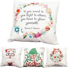 Cotton Christmas Xmas Pillow Case Throw Cushion Cover Home Decor Decoration N98B