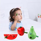 3Styles Wooden Worm Eat Fruit Baby Kid Children Developmental Toys Xmas Gift