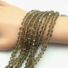 4/6/8/10mm Gray Rondelle Faceted Crystal Loose Beads For Europ Jewelry Making