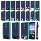 For ZTE Grand X Max 2 Kirk Z988 Imperial Animal Clear Teal Bumper Cover + Pen