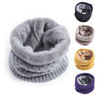 Winter Girls & Boys Knitted Scarf Sheath Thickening Thermal Scarf with Velvet