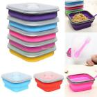 New Foldable Food Containers Picnic Storage Portable Bento Bowl Dishes Box SH