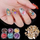 HOT Women Colorful 3D Shell Stone Sticker Nail Art DIY Charm Nail Manicure Decor