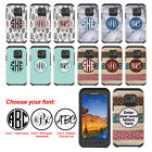 For Samsung Galaxy S7 Active G891 Custom Monogram Letters Bumper Hard Case Cover