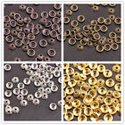 50/100Pcs Antique Silver/Gold/Bronze Round Charm Spacer Beads for Bracelet 3145