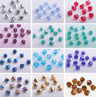 20pcs 8mm Faceted Glass Crystal Charms Helix Twist Loose Spacer Beads DIY NEW