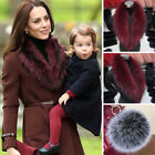 X-Large Natural Dress Ladies Real Fur Collar Scarf Ideal Design Red Wholesale