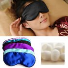 1 Pcs Pure Silk Sleep Eye Mask Padded Shade Cover Travel Relax Aid Blindfold Hot