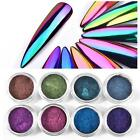 HOT Nail Art Mirror Mermaid Chrome Effect Pigment Glitter Dust Powder Decoration