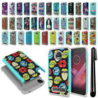 For Motorola Moto Z2 Play 2nd Gen Hybrid Bumper Shockproof Hard Case Cover + Pen