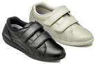 NEW FREESTEP LADIES WOMENS CASUAL LEATHER COMFORT STRAPS SHOES FLAT WALKING SZ