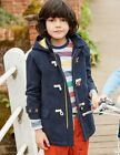 Winter navy blue quality wool blend school duffle coat jacket age 2 - 14 New