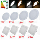 LED Ultraslim Panel Ceiling Light Bathroom Kitchen Bedroom Fitting Lamp 3W-24W