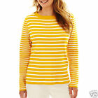 Liz Claiborne Striped Golden Multi Boatneck Sweater New With Tags Size 1X