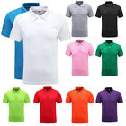 Stylish Men's Cotton Blend Collar 2-Button Pique Sport Polo Golf Shirt Casual