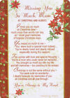 missing you so much MUM Christmas memorial grave graveside card + stand memoriam