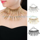 Fashion Silver Chain Bumps Shiny Metal Claw Chunky Bib Collar Pendant Necklace