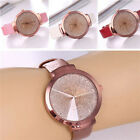 Fashion Women's Casual Stainless Steel Leather Watch Analog Quartz Wrist Watches image
