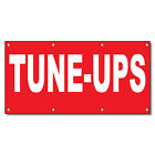 Tune-Ups Red Background Auto Car Repair Shop Vinyl Banner...