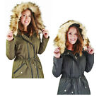 Jessica Simpson Anorak Women's Hooded Parka Winter Coat Faux Fur