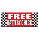 free battery check - Free Battery Check Auto Body Shop Car Repair Vinyl Banner Sign With Grommets