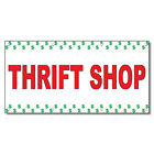 Plaques Signs - Thrift Shop Red 13 Oz Vinyl Banner Sign With Grommets