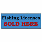 Fishing Licenses Sold Here 13 Oz Vinyl Banner Sign With G...
