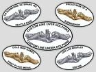 PERSONALIZED Submarine Insignia Dolphins Euro Decal USN SSN SSBN Auto Truck